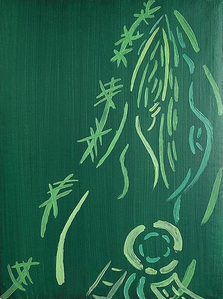 "Sleeve Detail | oil on canvas 12"" x 9"""