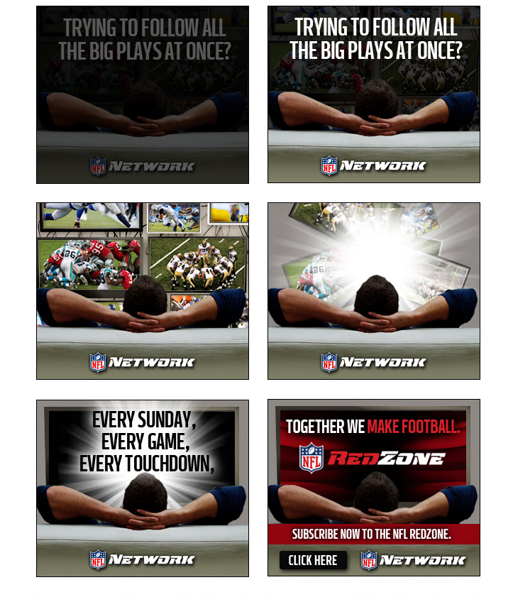NFL - Red Zone - Banner Concepts
