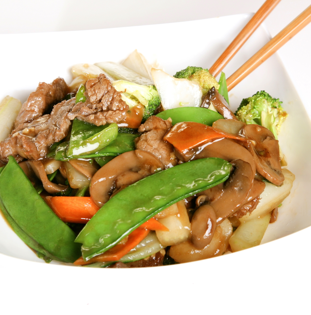 Beef with Snow Peas & Mushrooms
