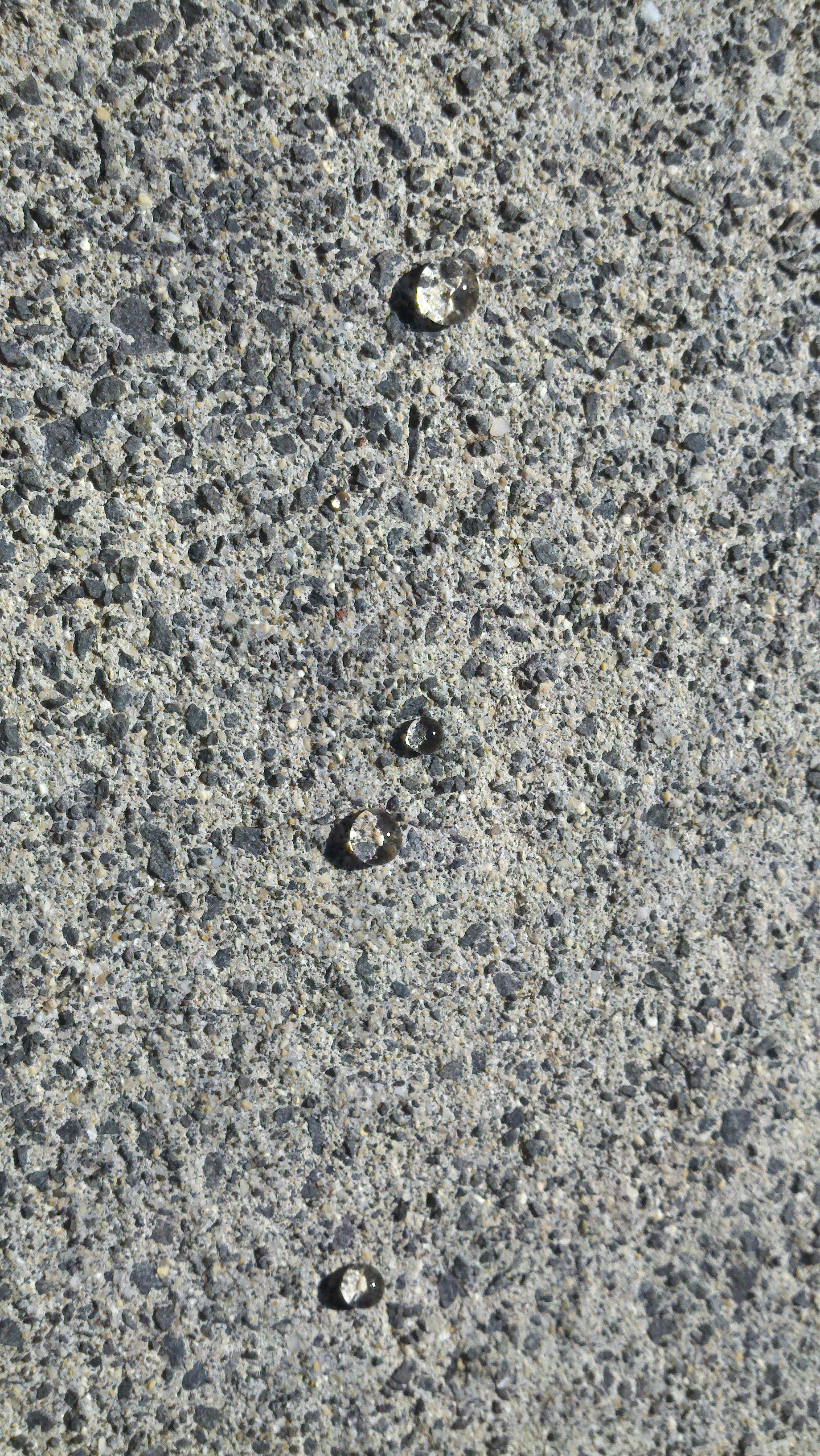 Water Beads on Sealed Concrete
