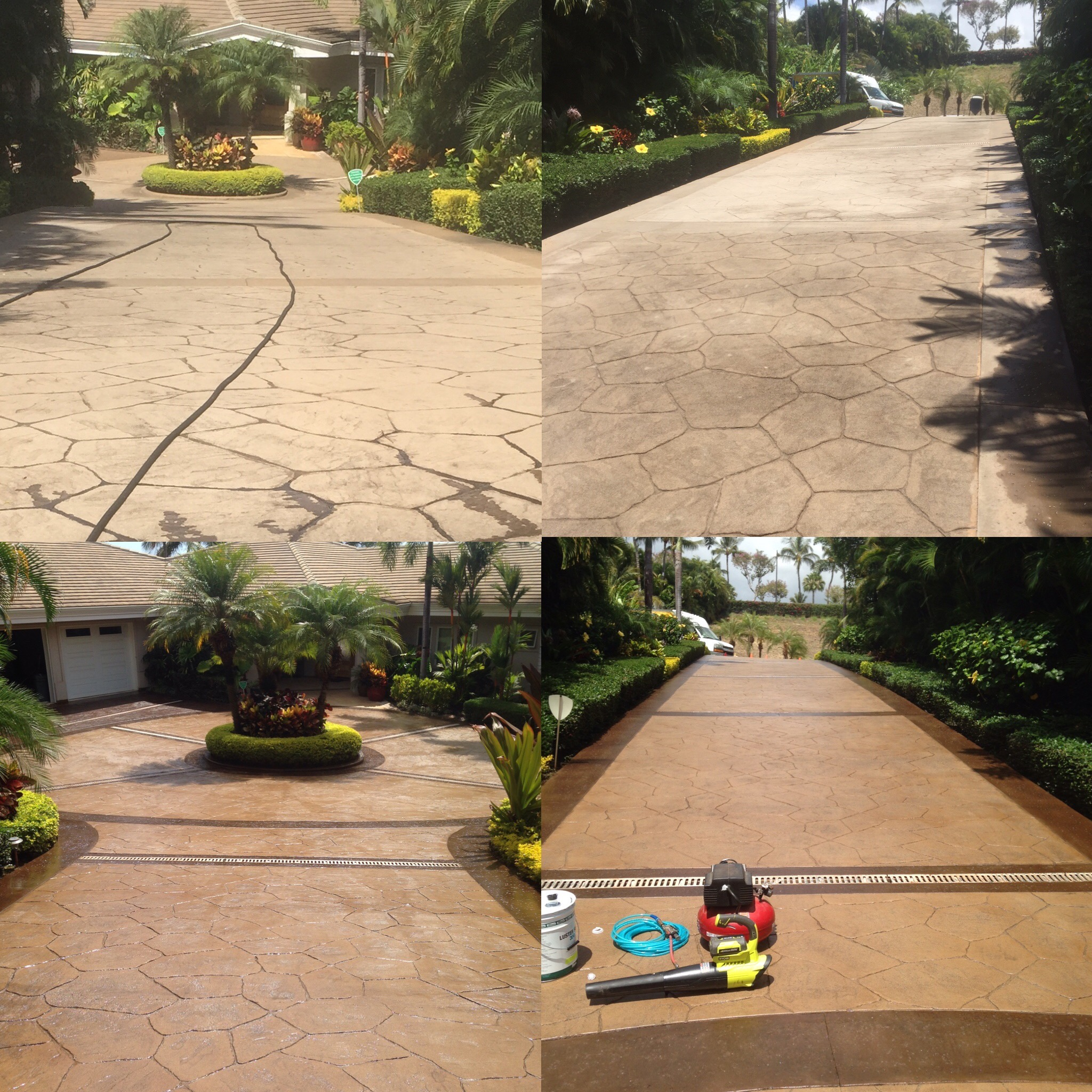 Before / After Stained Concrete