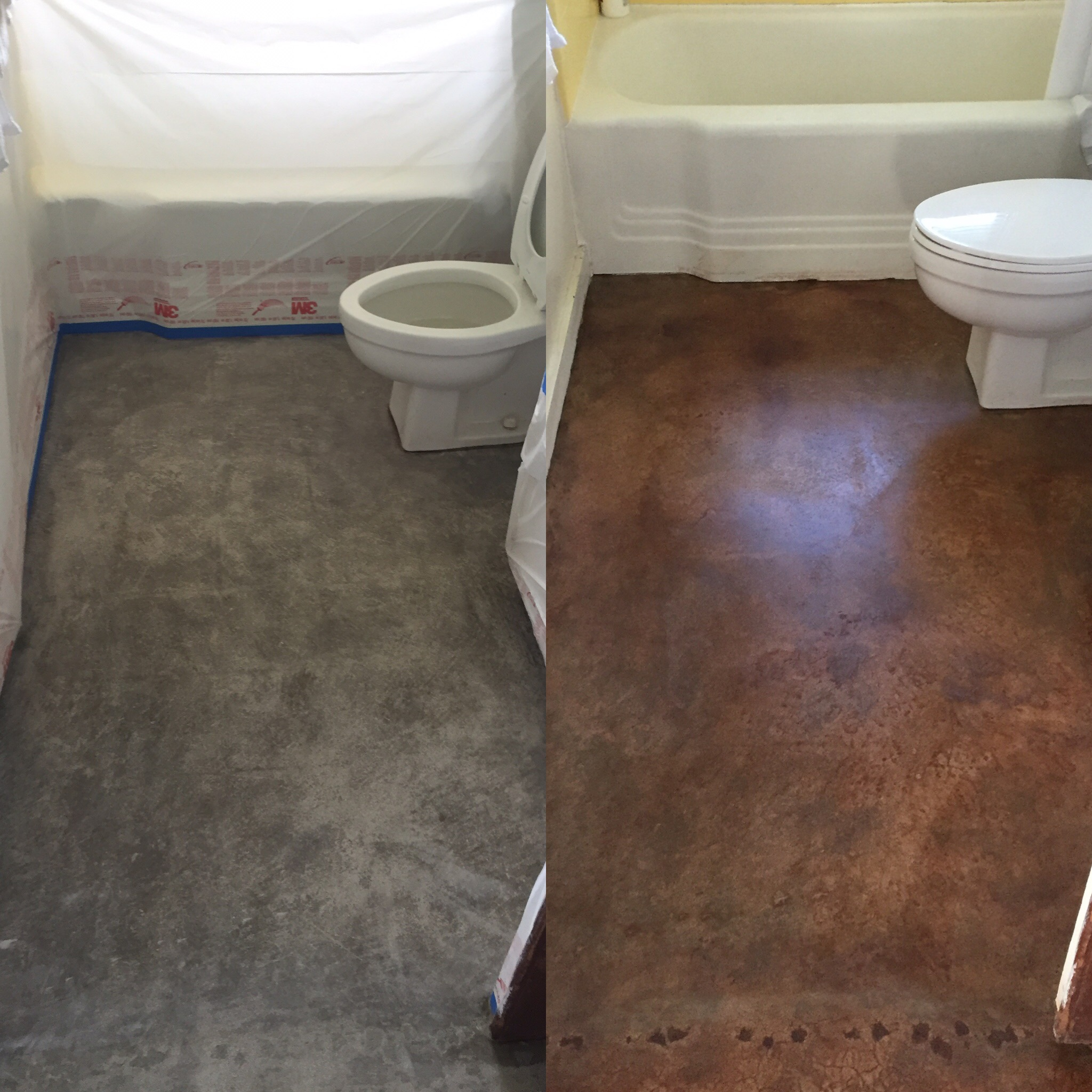 interior concrete stain & seal