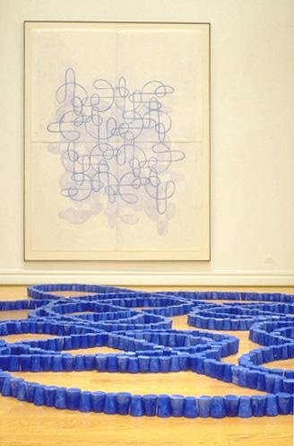Blue Lines, 1995 (detail)