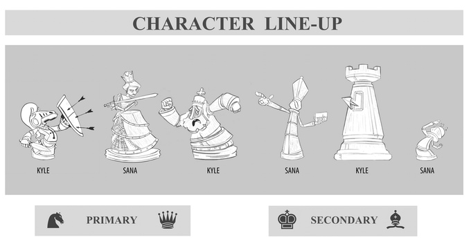 PreProduction Art: Character Line Up