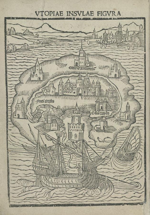 Thomas More, Utopia (1516), copyright The British Library Board.