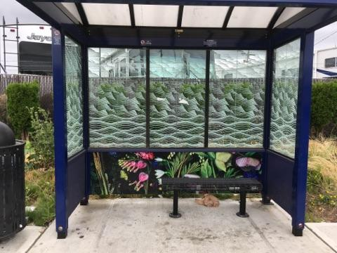 City Panorama Photomural 2017 - A juried competition by Photographic Center Northwest to create murals for bus shelters to beautify, deter graffiti, and become a source of community pride. My piece,