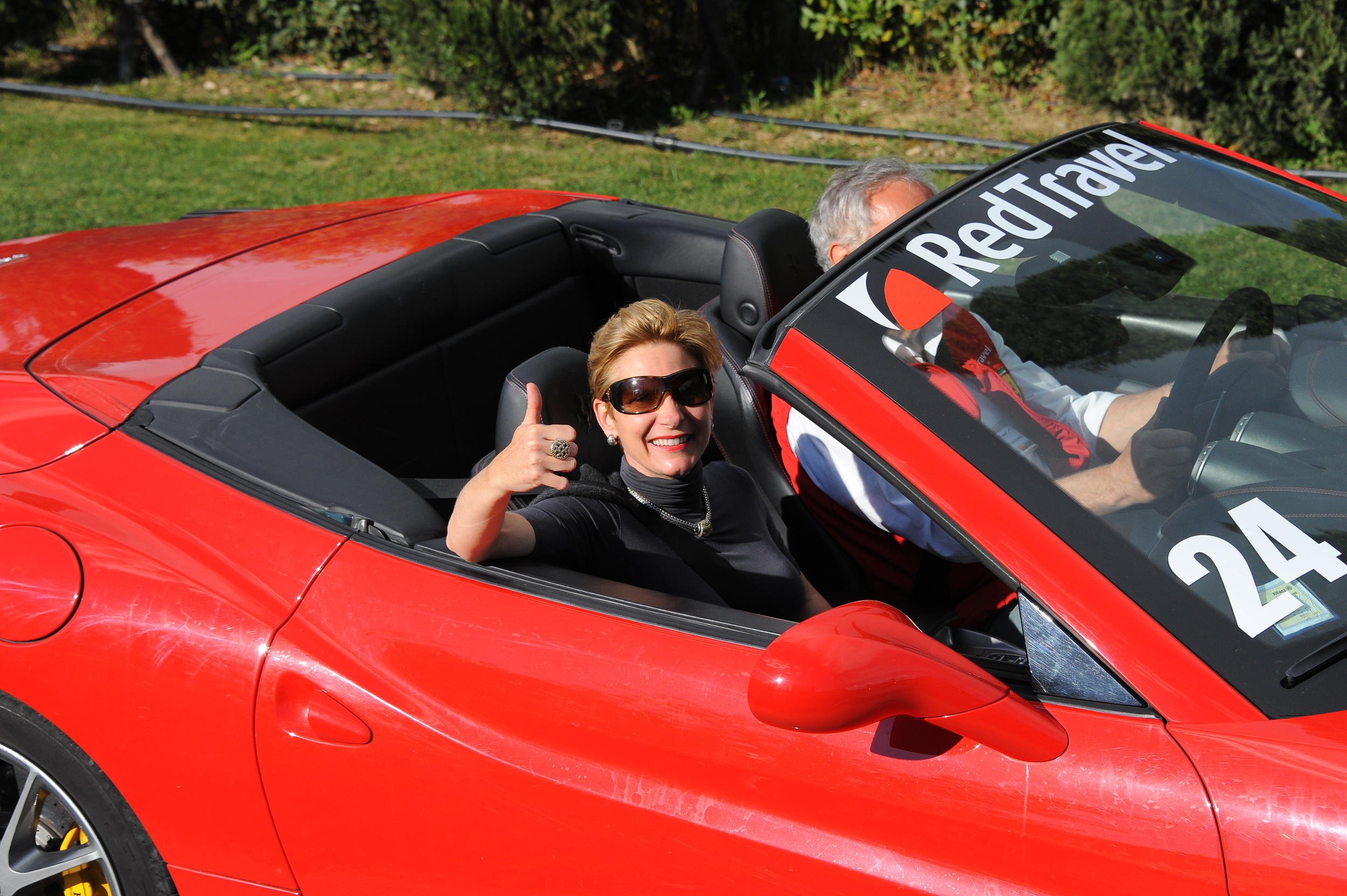 Laura on last year's Tuscany by Ferrari corporate trip