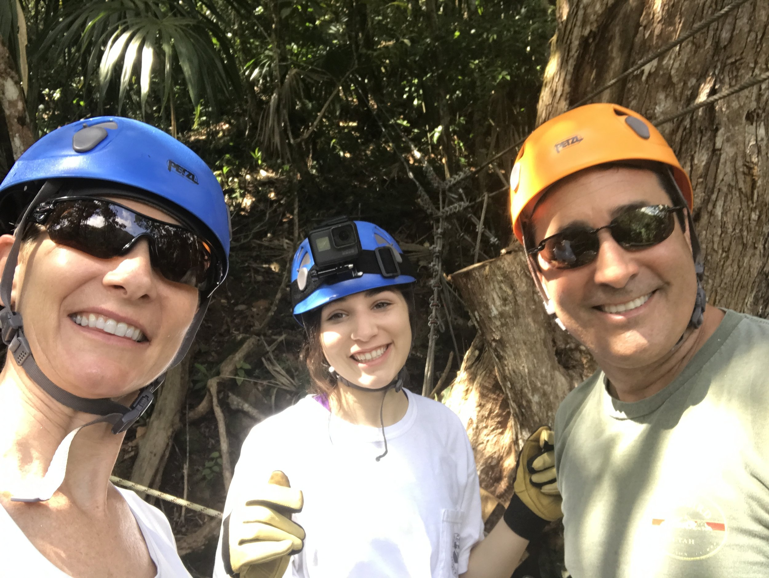 Ziplining in Belize