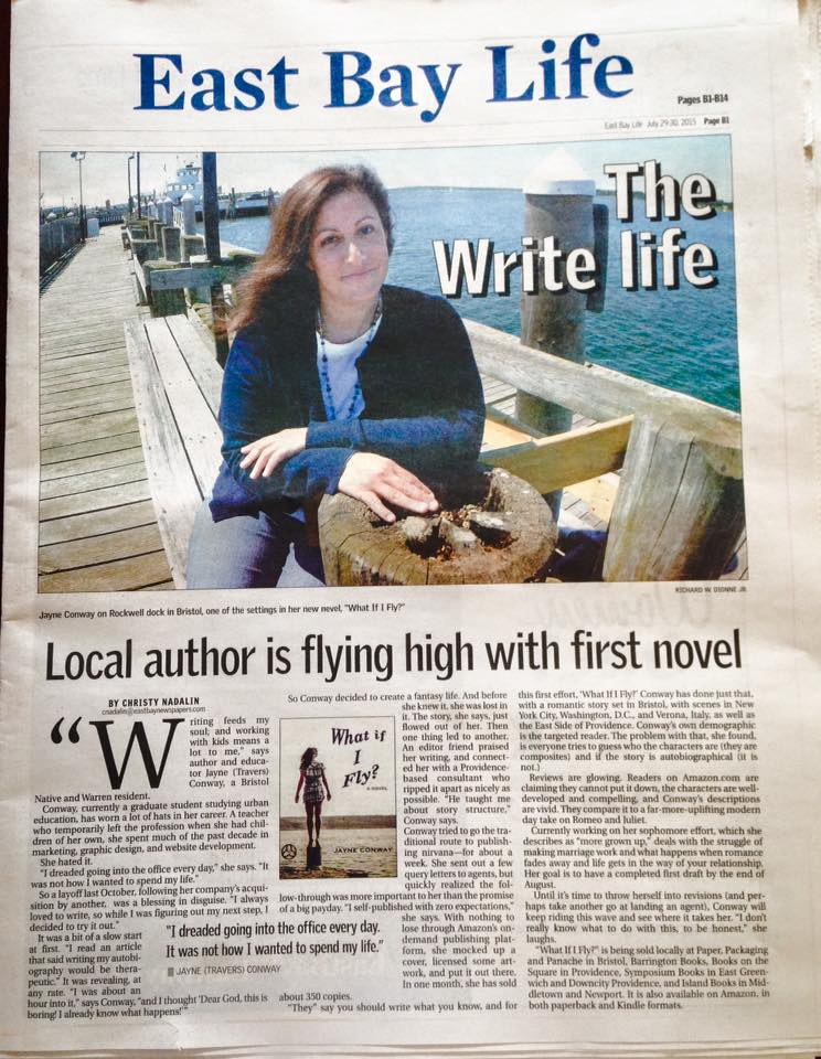 As seen in East Bay Newspapers on July 29, 2015   http://www.eastbayri.com/news/local-author-is-flying-high-with-first-novel/