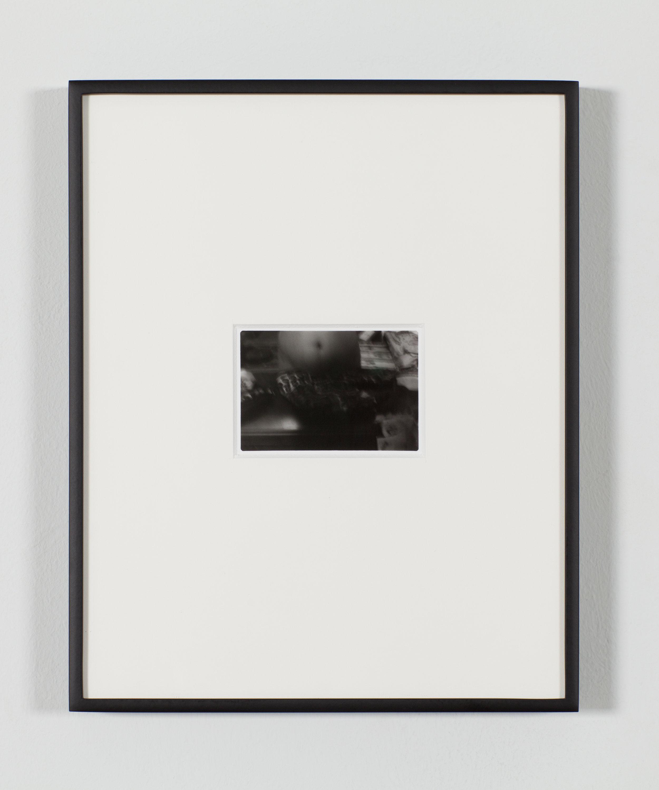 "Untitled, 2019 Gelatin Silver Print 2.7x1.8"" in 8x10"" Aluminum Frame"