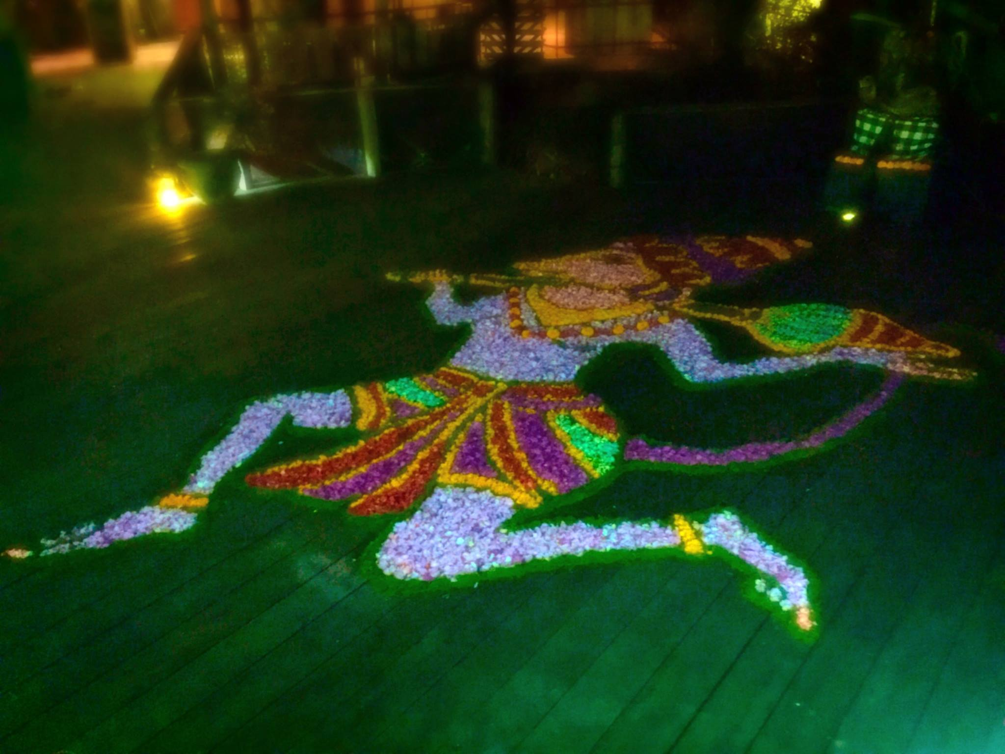 The mandala chosen to welcome the trainees - Hanuman! This can only be a good sign...