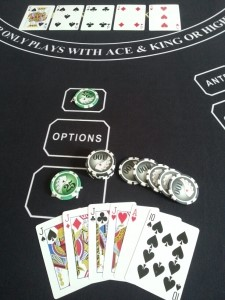 Dealer Qualifies, Player is paid 20-1 on their $50 BET = $1,000