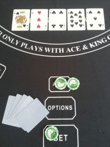 Dealer doesn't qualify, player is paid 1-1 on the Ante and BET is a push