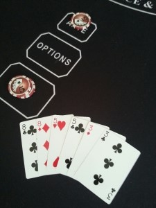 6 card hand 8,8,5,5,3,3 including 2 x 2 Pairs