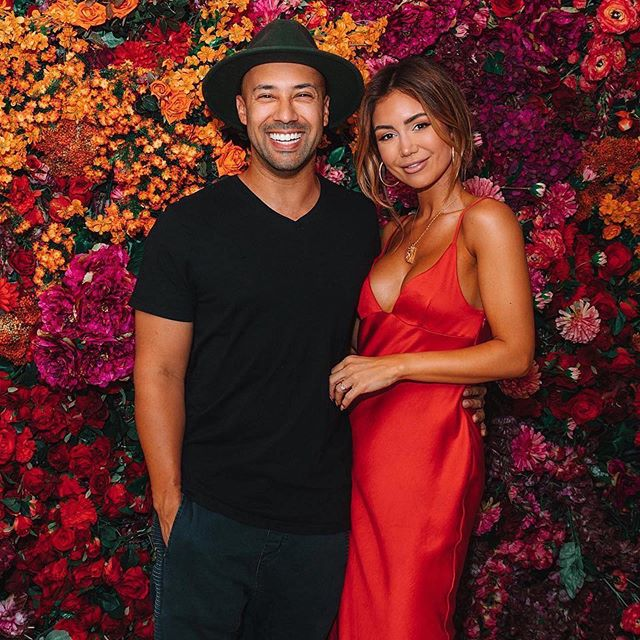 #Flashback Friday to this amazing couple in front of our flowerwall for @maxmedialab for @patron  @piamuehlenbeck @vato ・・・ Our custom wall install for @maxmedialab @patrondayofthedeadpopup @patron @fleur_events #Repost @piamuehlenbeck ・・・ We were supposed to not be drinking any alcohol until the wedding... ended up drinking tequila! 🤷♀️ whoops! ☺️ @chloemorello @sebamecha @vato