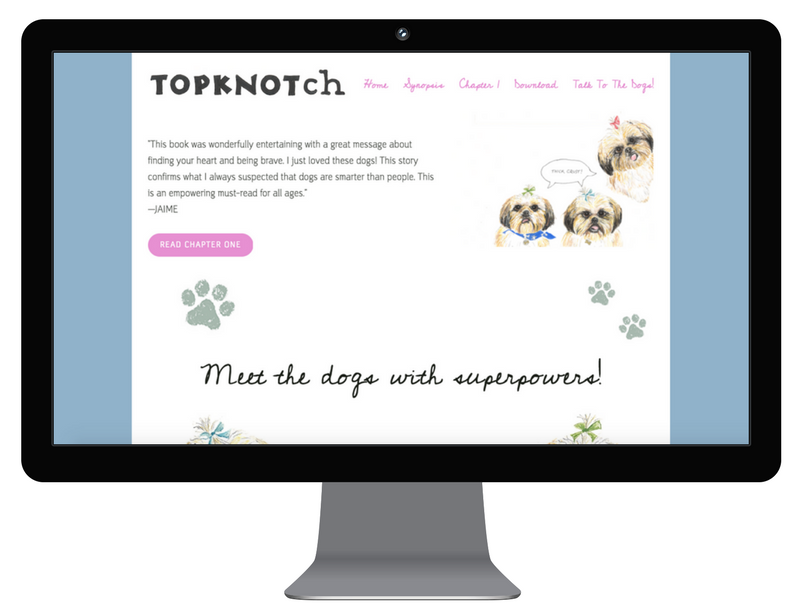 TopKnotch Dogs - web design