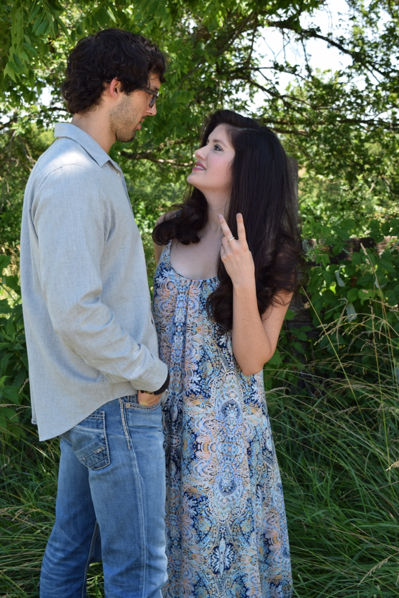 My mom sent me this picture from our engagement shoot and told me I was telling Logan he had 2 months before I was pregnant (obviously that's not what I was saying)....HAHA little did we know how true that was going to be!
