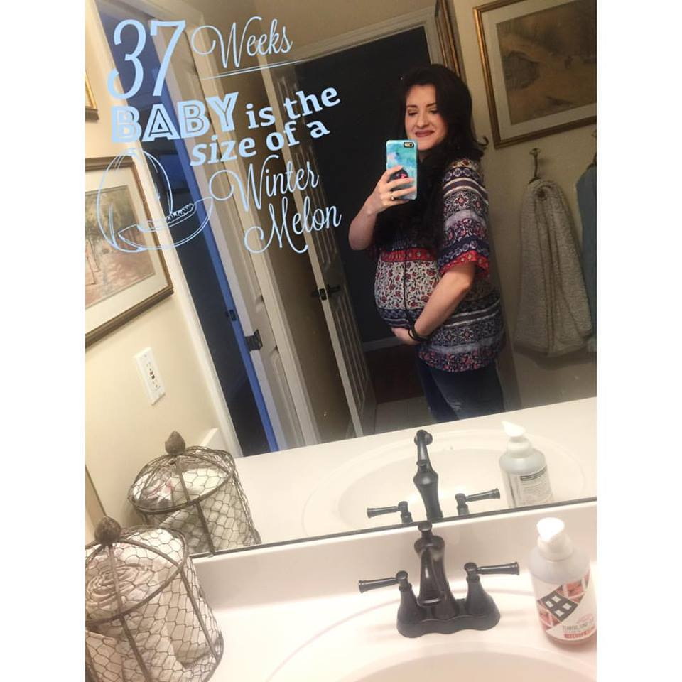 My favorite Motherhood of Maternity shirt and my fav under the belly Jeans from Target!
