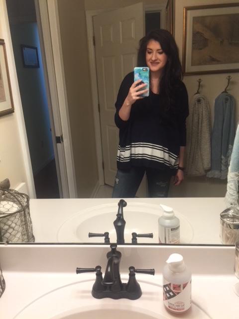 Last selfie as a preggo!