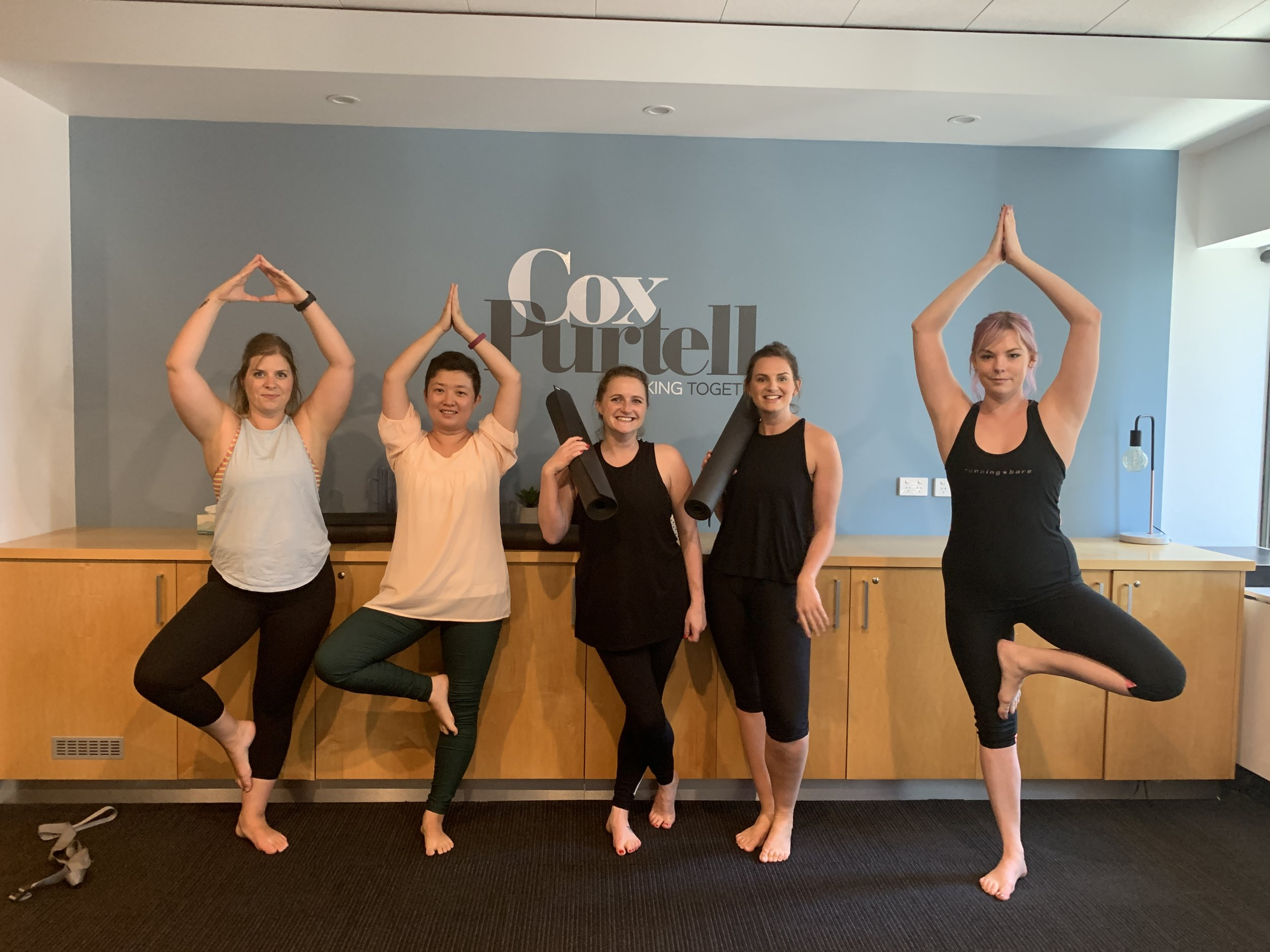 January 2019, Office Yoga with Cox Purtell