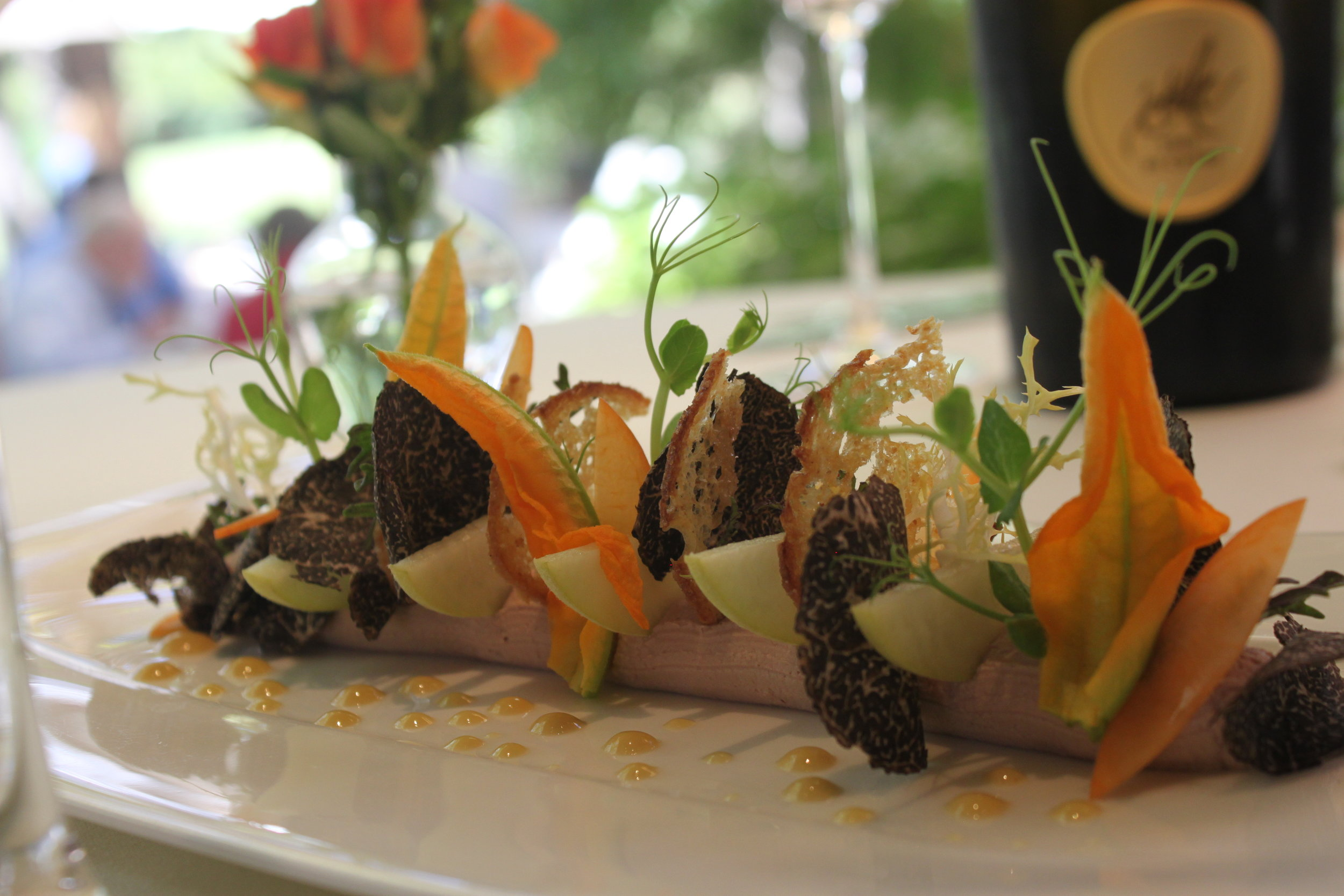 Duck Pate with Summer Stone Fruit & Australian Black Truffles - Photo by Sally James