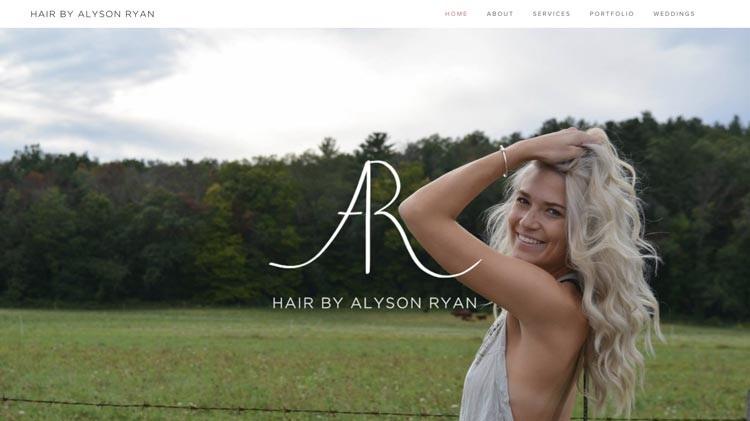Alyson Ryan Hair Salon Website