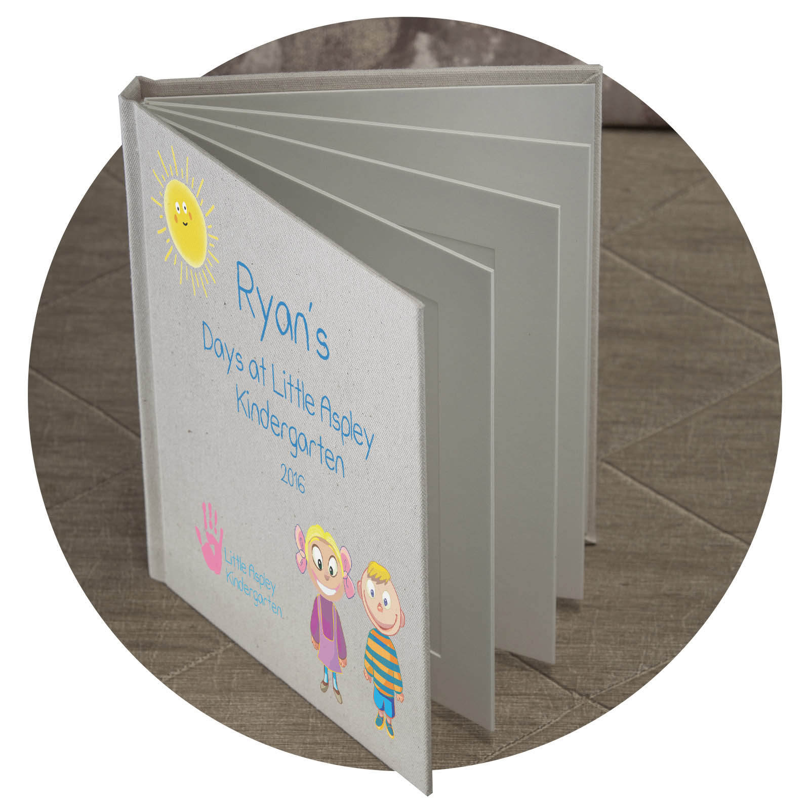 "6 Page 5x7"" Photo Album with Personalisation."