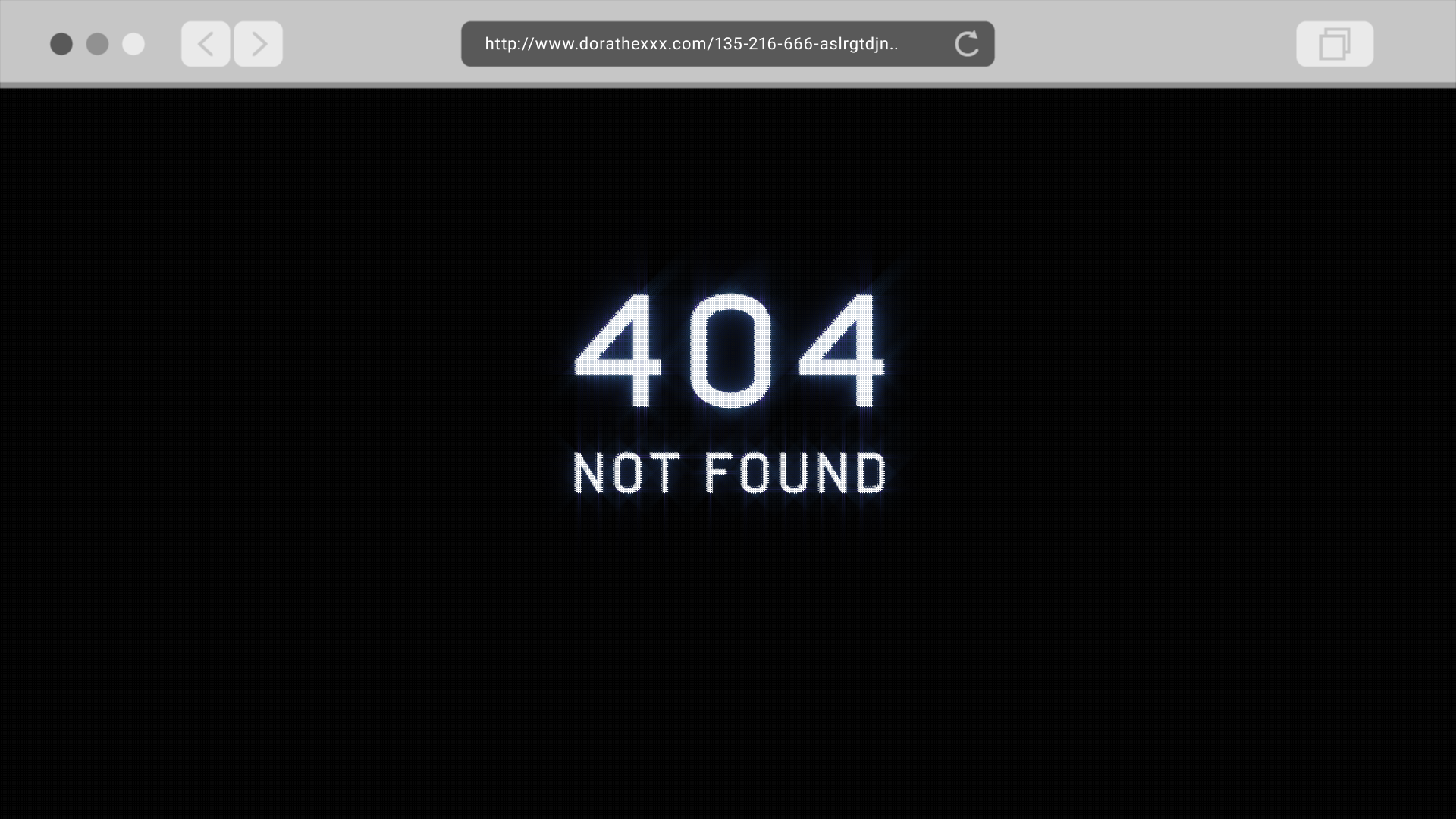 404 Not Found - Title Design (2017)