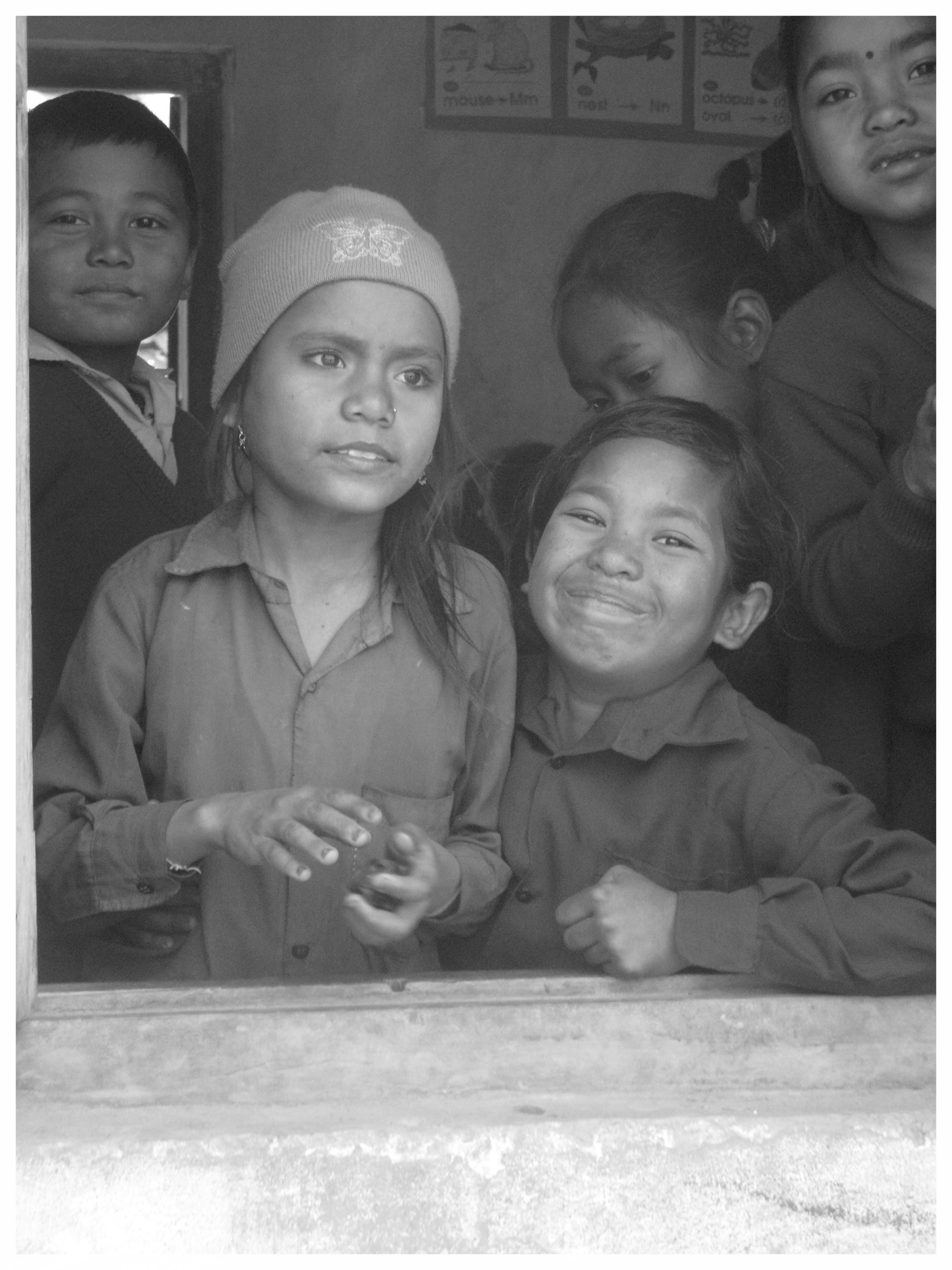 This image was taken at PremNagar school in Nepal. Families in this region were released from bonded slavery in the early 2000's.