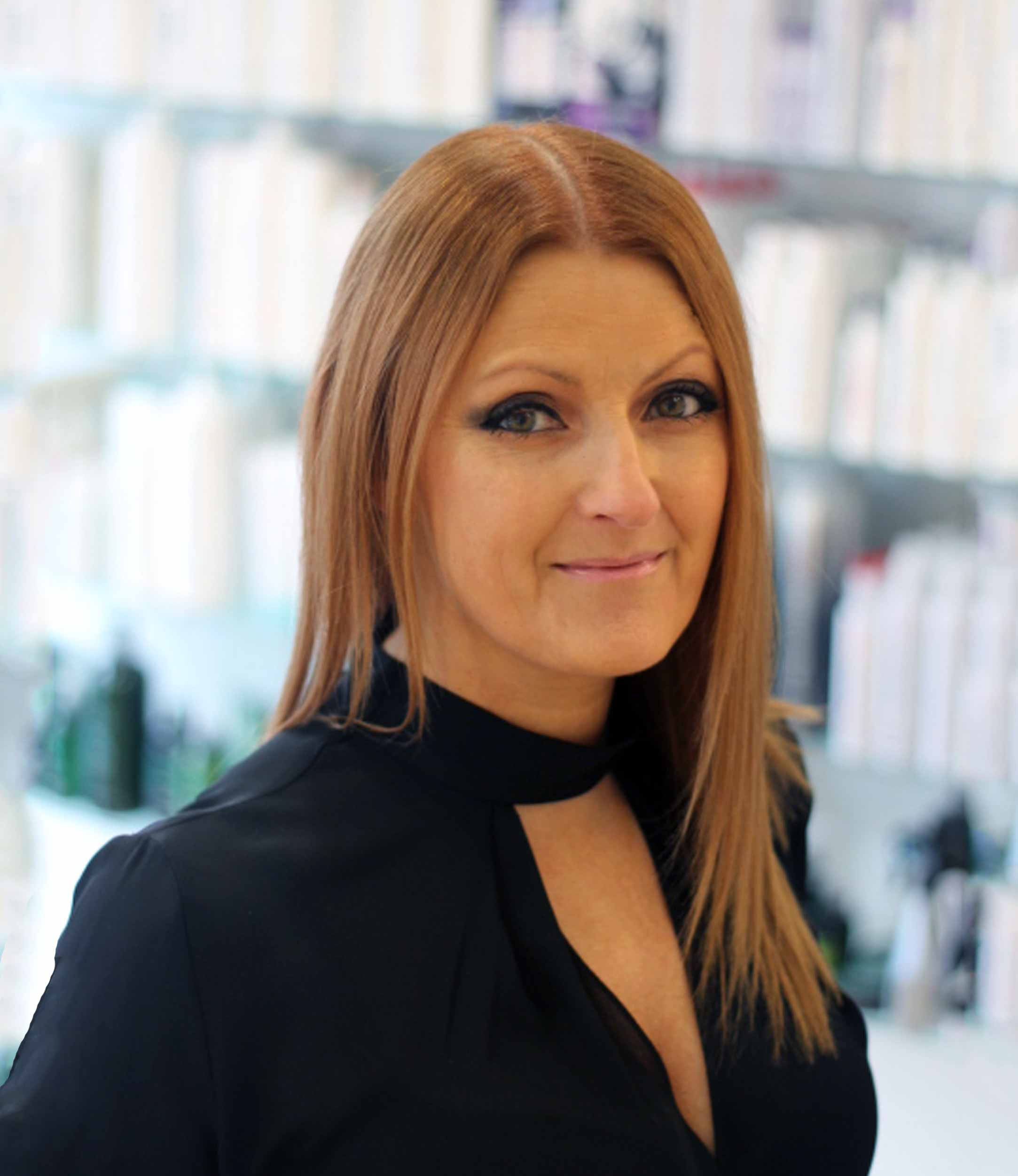 Beverley  - Director, a member of the Team since 1990 and the most experienced member of the styling team.