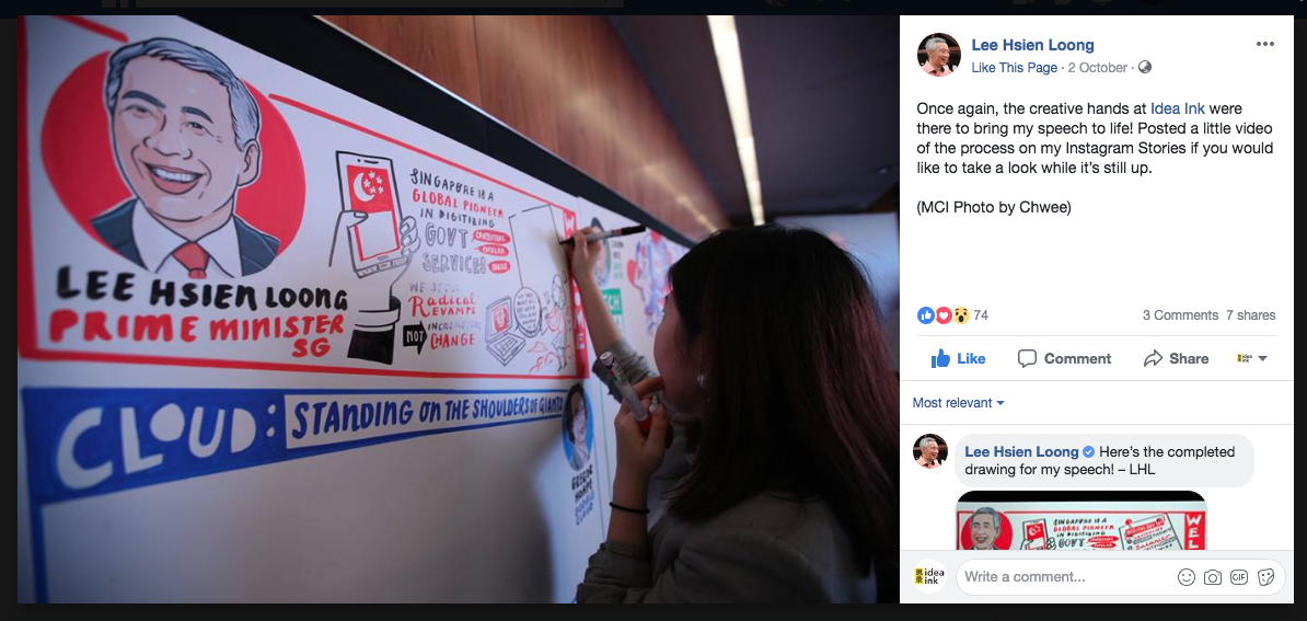Special mention on  Prime Minister Lee Hsien Loong 's  Facebook  page