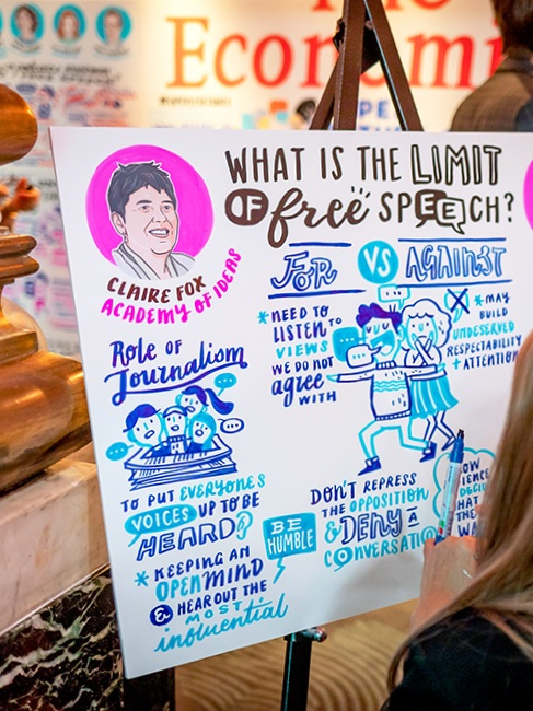 What is the impact of graphic recording done right for an established international brand?– - We provided a space for dynamic dialogue which attracted a wider and digital audience.
