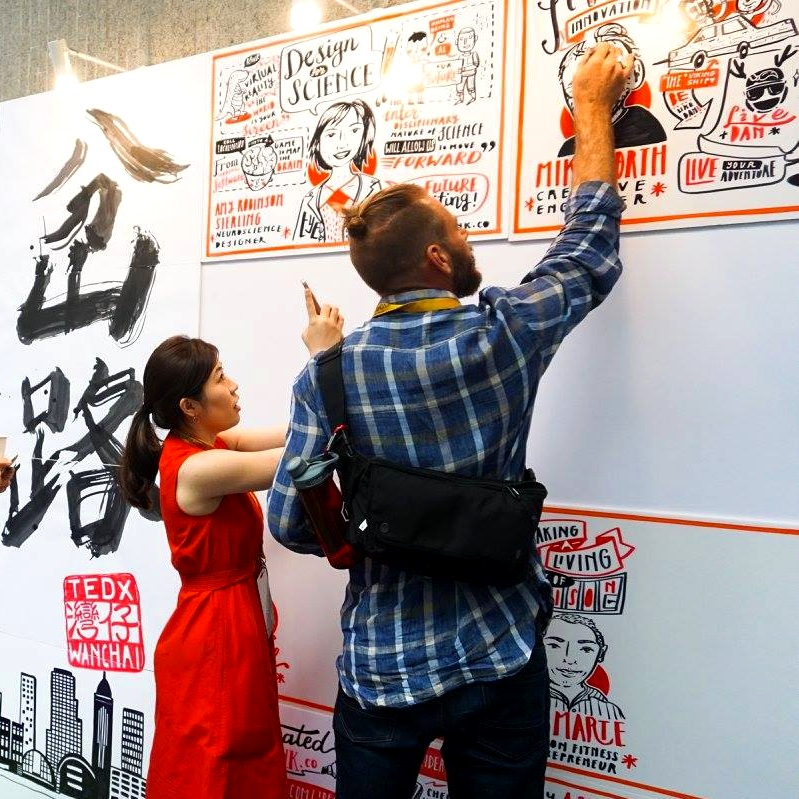 Graphic Recording Hong Kong Wan Chai Tedx