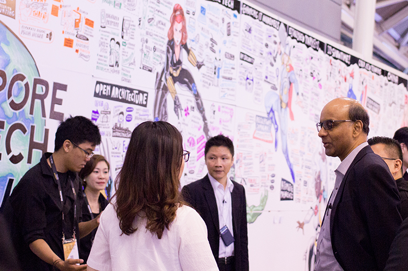 Singapore FinTech Festival 2017 |   Mr    Tharman Shanmugaratnam    and delegates