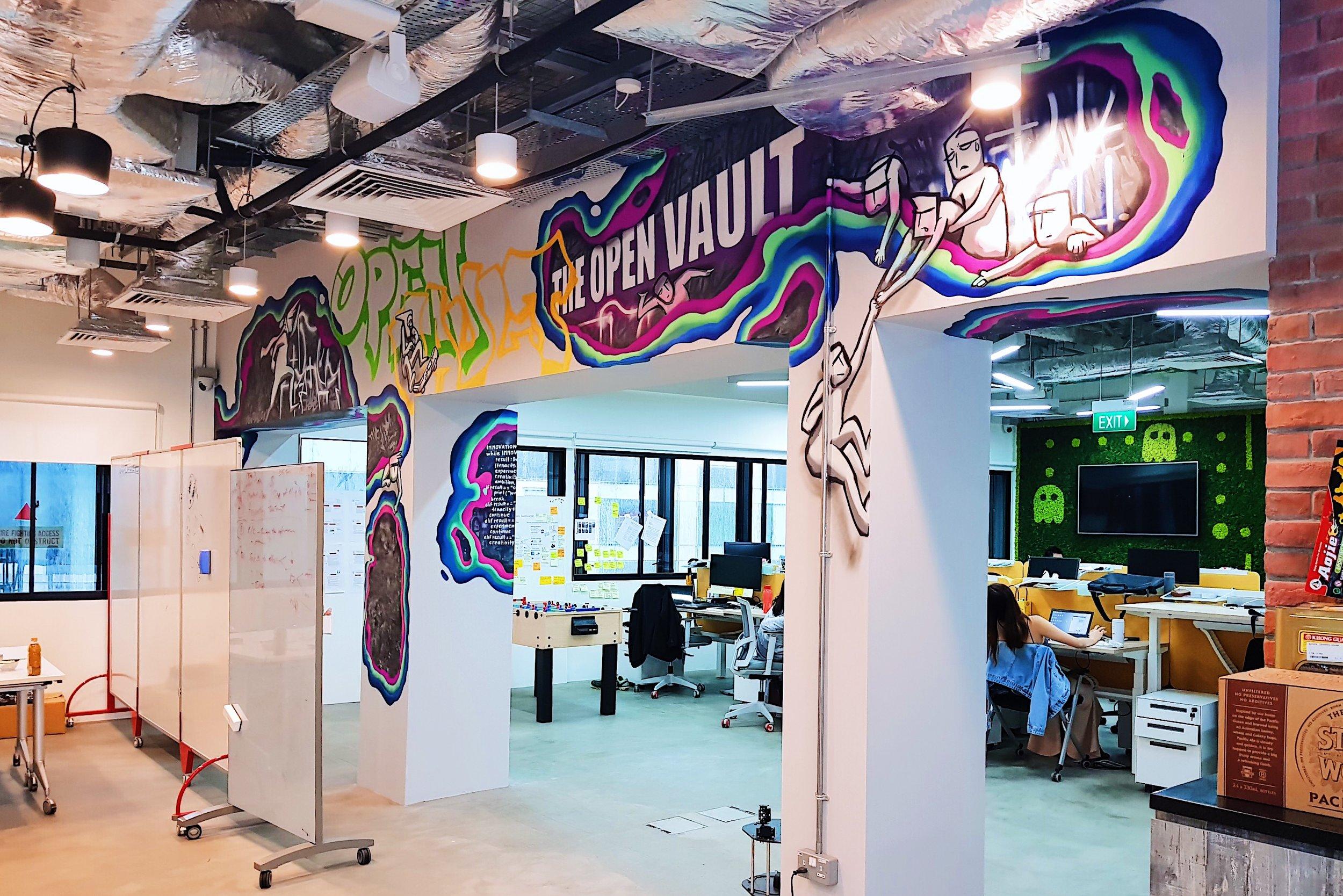 OCBC The Open Vault | Graffiti Mural 2019    Singapore