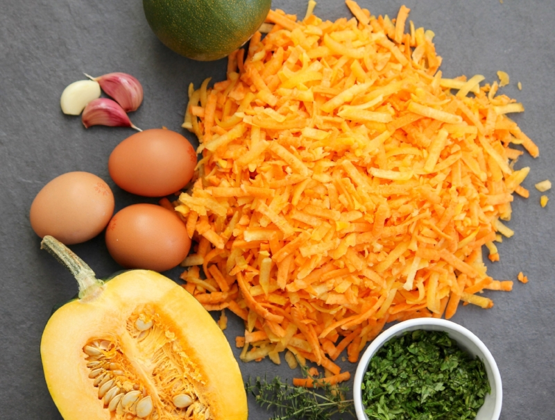 Ingredients for Pumpkin and Sweet Potato Rosti