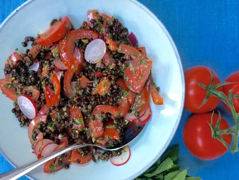 Puy Lentil and Tomato Salad