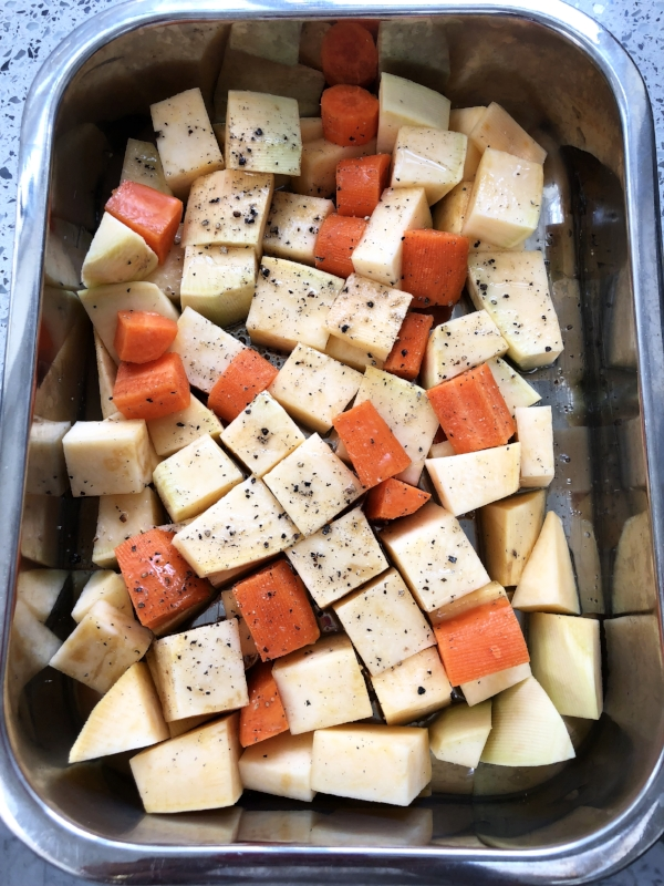swede and carrots for roasting