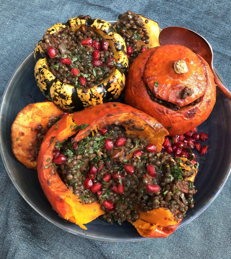 Stuffed Squash with Spicy Dhal