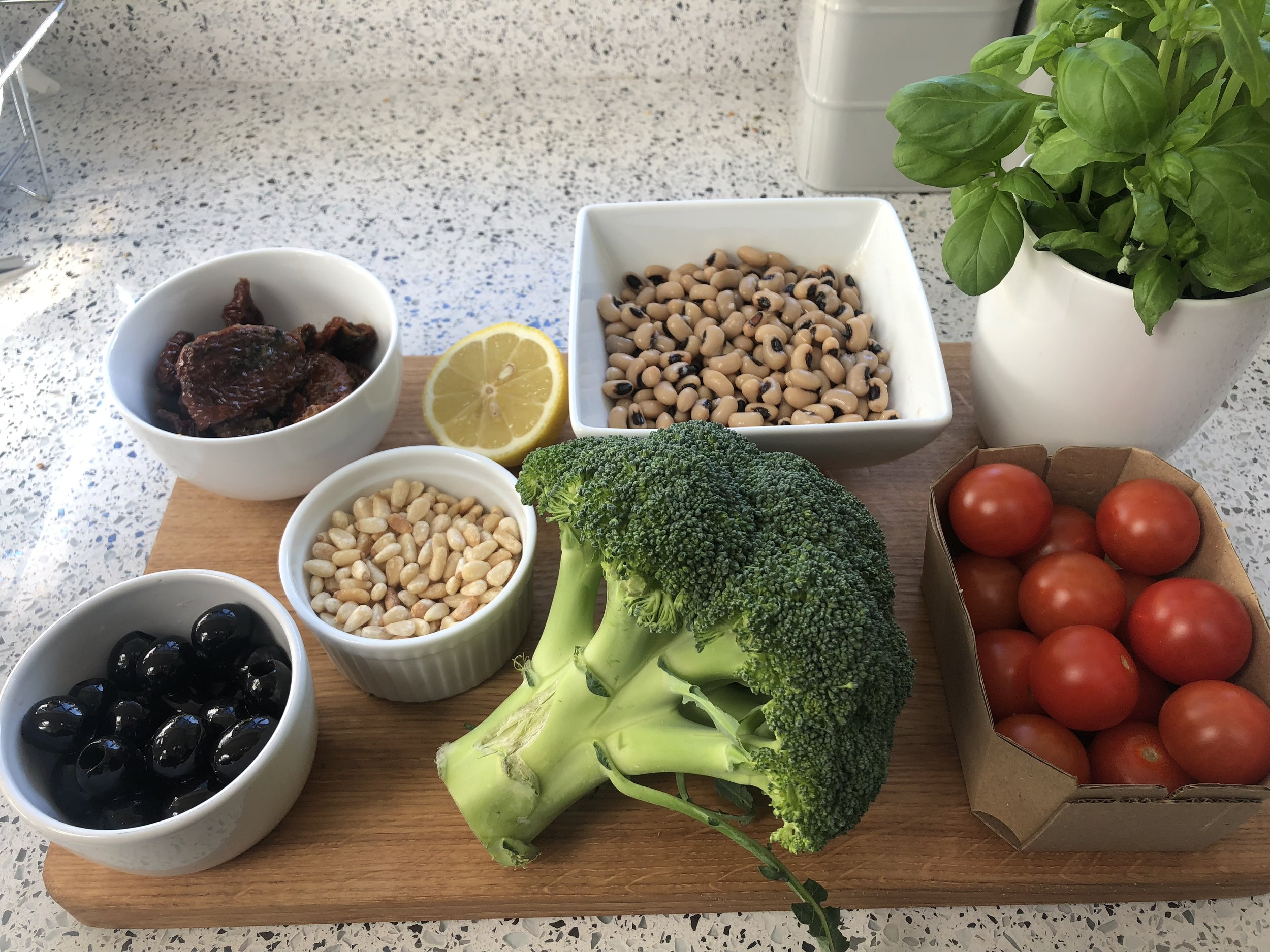 Ingredients for Lunchbox Winter Salad
