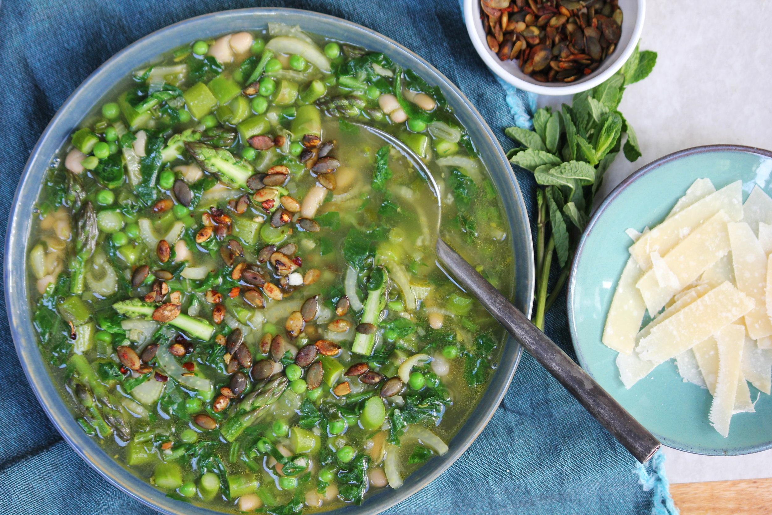 Super Spring Veggie Soup