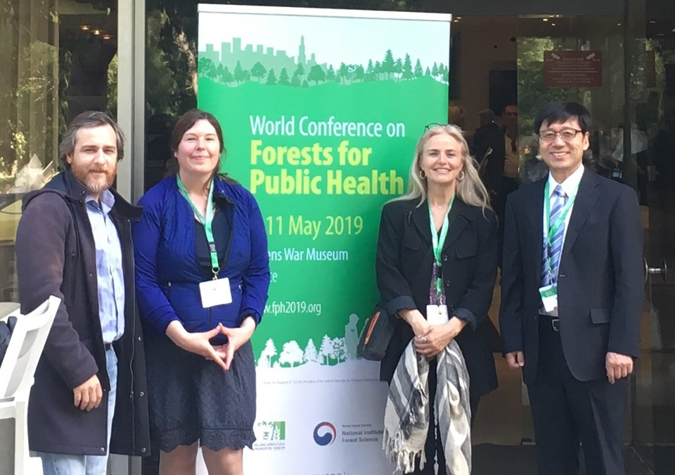 Shirley Gleeson presents her Forest Therapy Intervention for Adults Experiencing Stress at the World Conference on Forests for Public Health in Athens