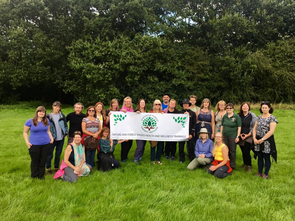 ECOWELLNESS CONSULTING LTD TRAIN CERTIFIED FOREST BATHING GUIDES IN THE NATIONAL FOREST UK ON BEHALF OF THE EUROPEAN FOREST THERAPY INSTITUTE
