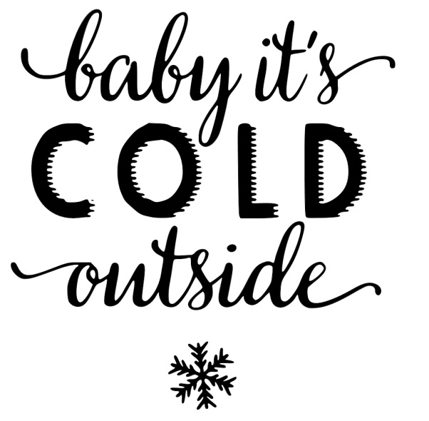 Stencil 3: baby it's COLD outside
