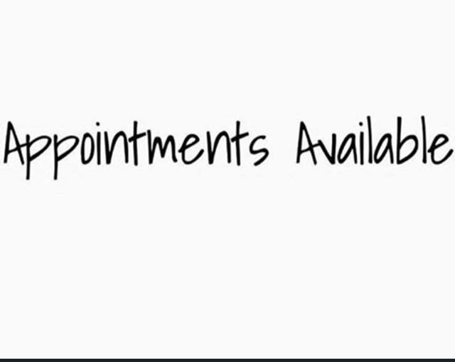Appointments have become available for this weekend, don't miss out, give the team a call 01492 877628.☎️