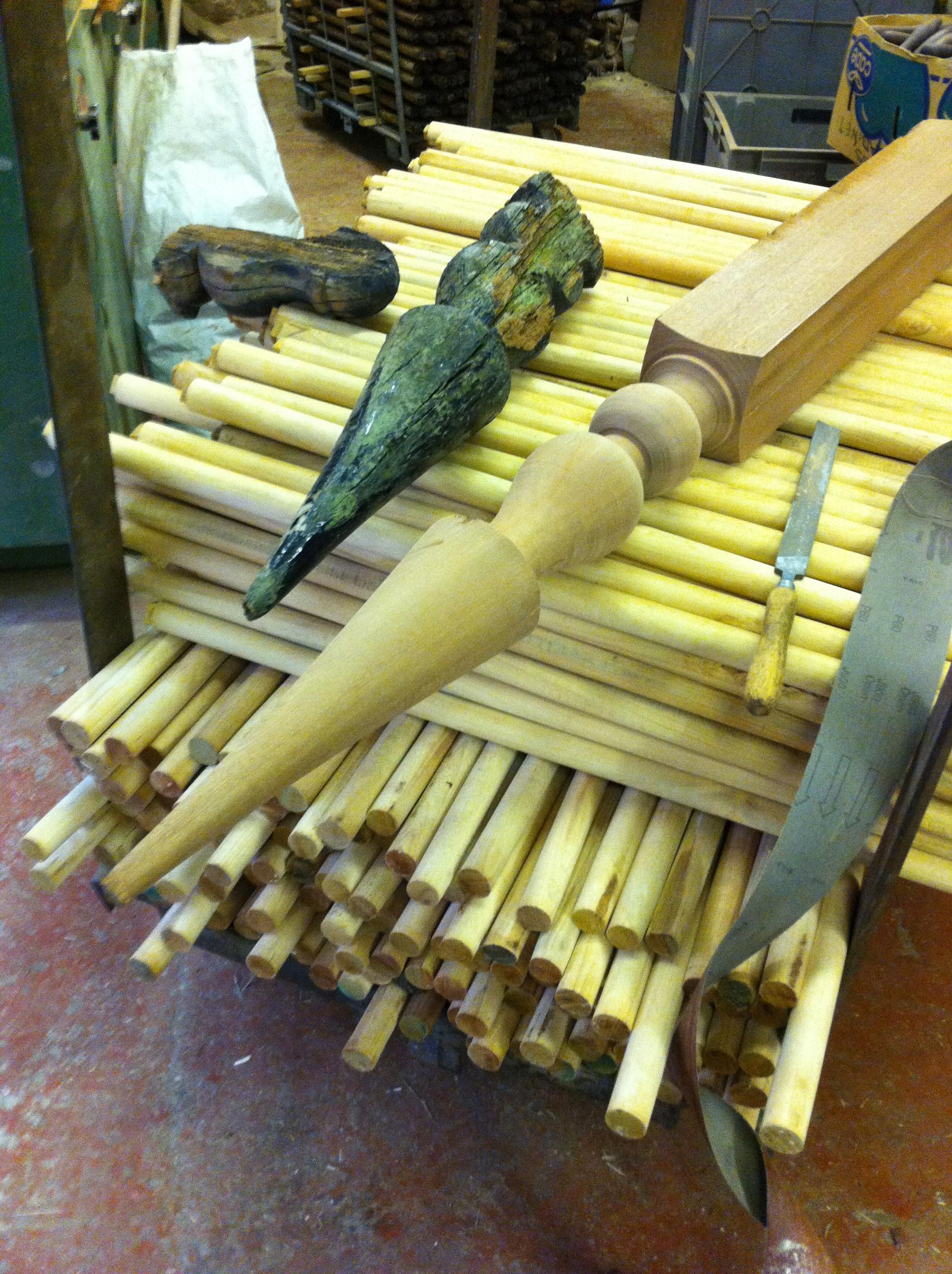 Bespoke Finial turned in hardwood