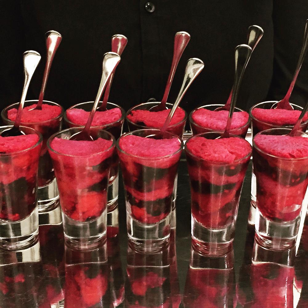 Summer pudding shots