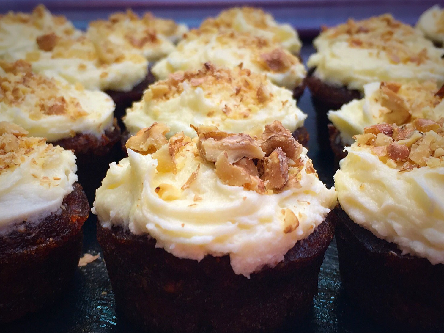 Baby carrot cakes