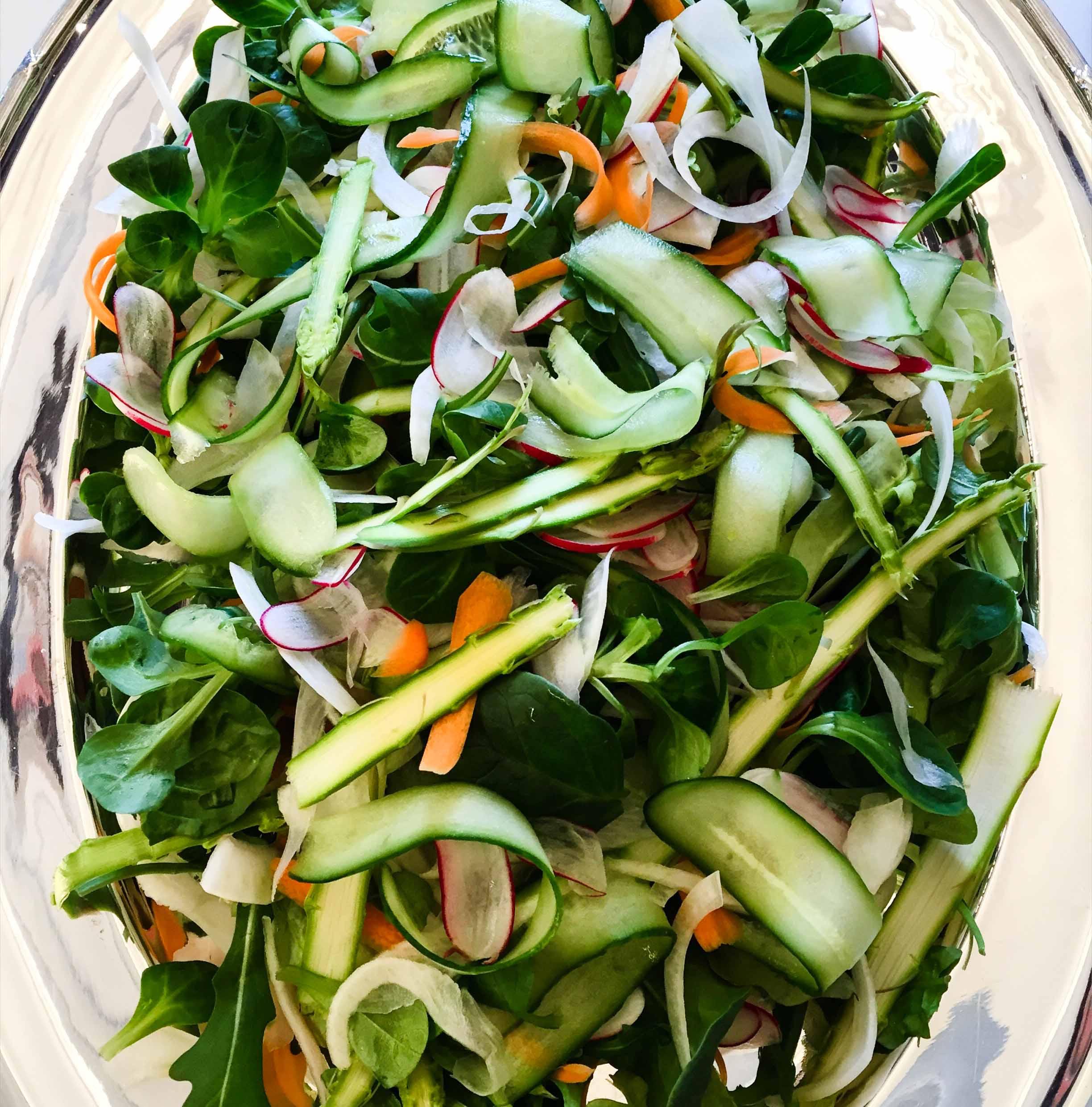Shaved springtime salad