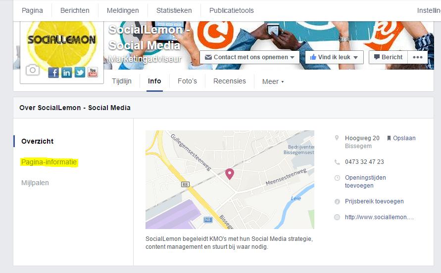 naam facebookpagina wijzigen